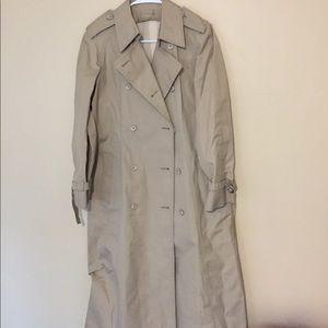 London fog trench coat size 12